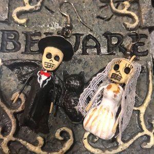 Lil Miniature Bride/Groom Earrings